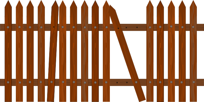 Fence clip art free. Fencing clipart house gate