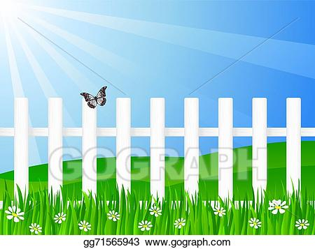 Vector art wooden and. Fence clipart beautiful fence