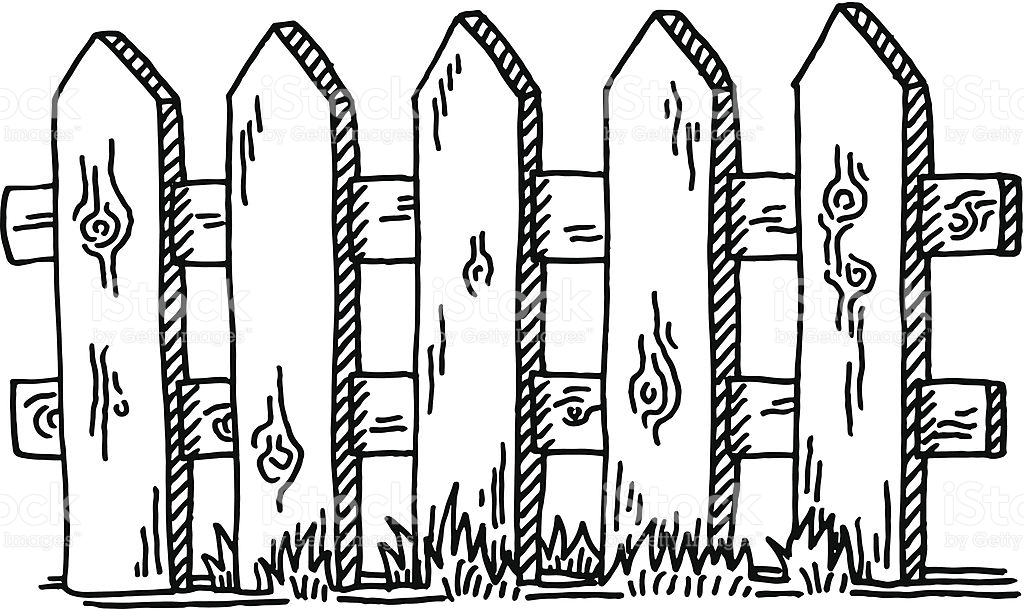 Fencing clipart black and white. Fence station