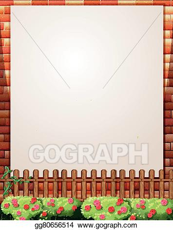 Fence clipart border wall. Eps illustration design with