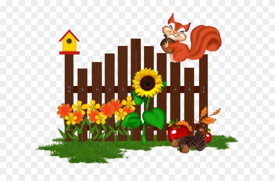 Gardening clipart garden fence. Cartoon pinclipart