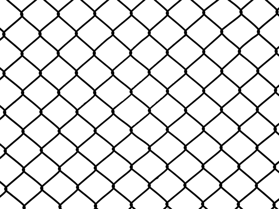 Fence clipart chain link fence. Transparent wiremesh by limited