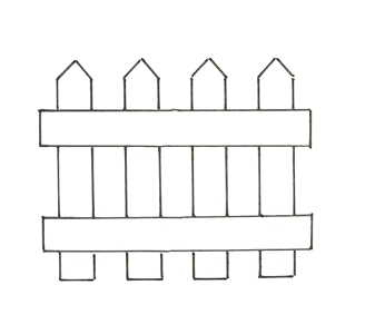 Fence clipart colouring. Free picket cliparts download