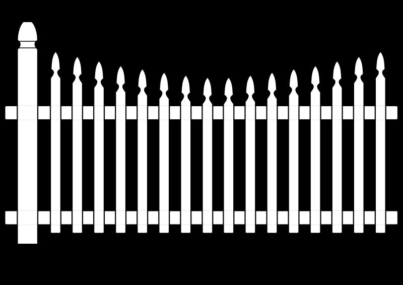 White picket medium image. Fence clipart colouring