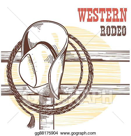 Fence clipart cowboy fence. Eps illustration american west