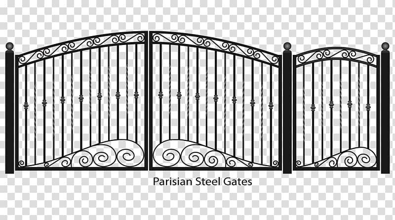 Parisian gates fence wrought. Gate clipart steel gate