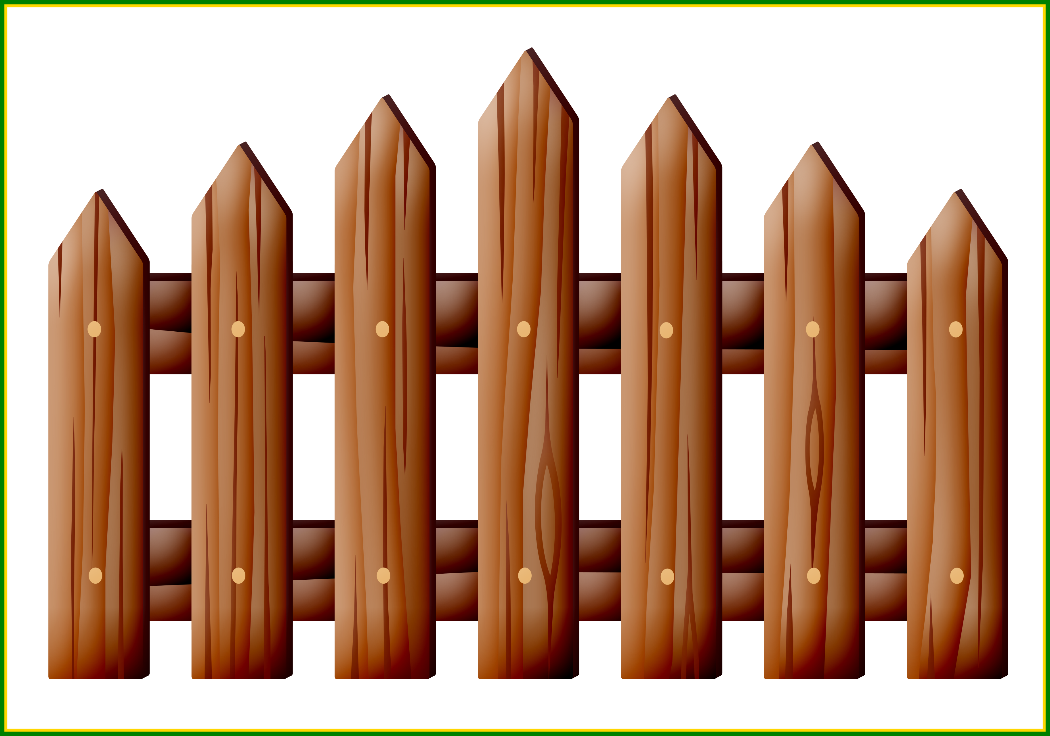 Fence clipart fench. Awesome cut scallop picket