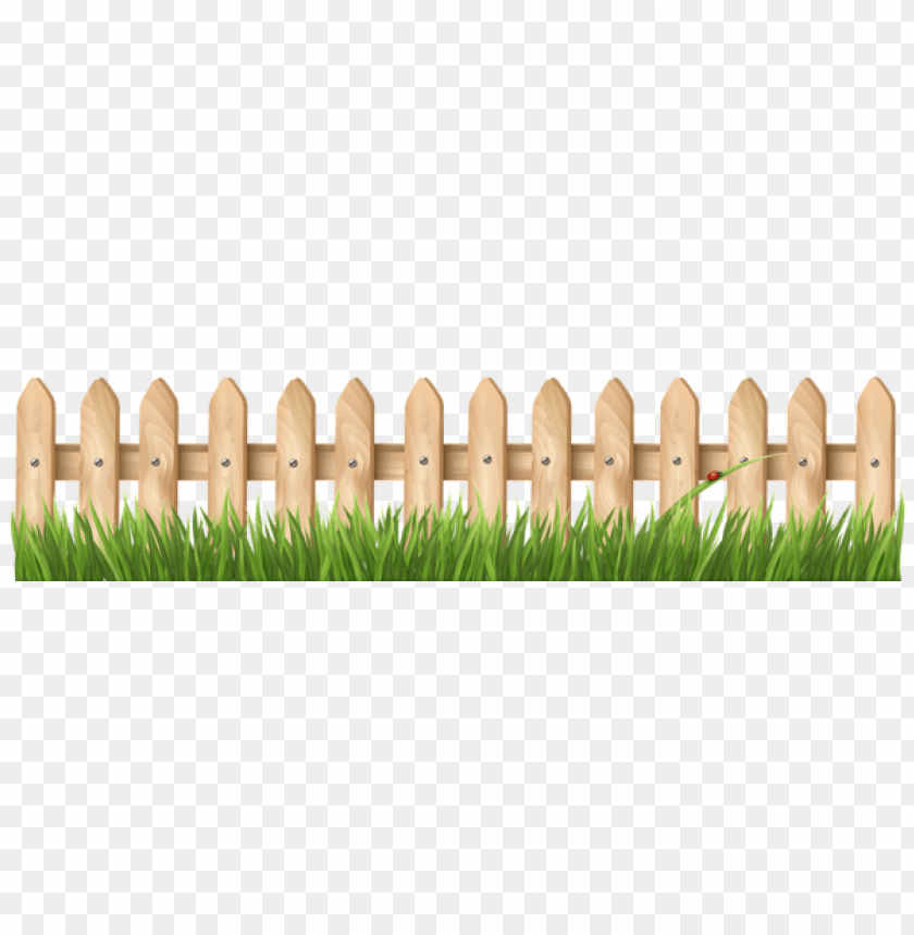 Download transparent with grass. Fence clipart fench