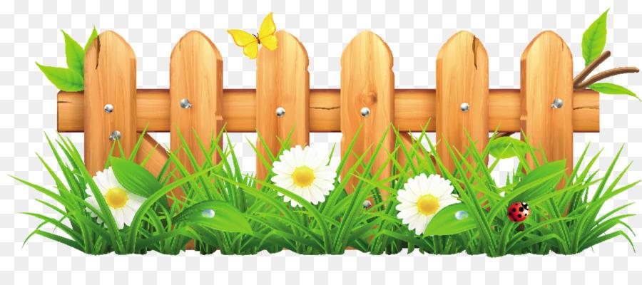 Floral background garden . Fence clipart flower