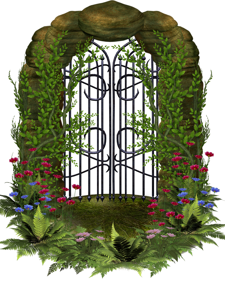 Flower fence . Gate clipart beautiful