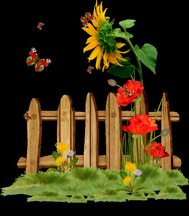 Fence clipart flower drawing. Dekorat vne elementy category