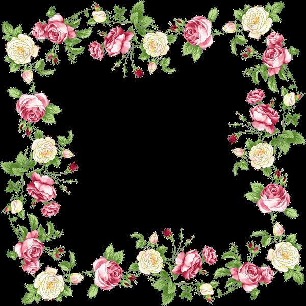 Oval border buscar con. Floral clipart boho