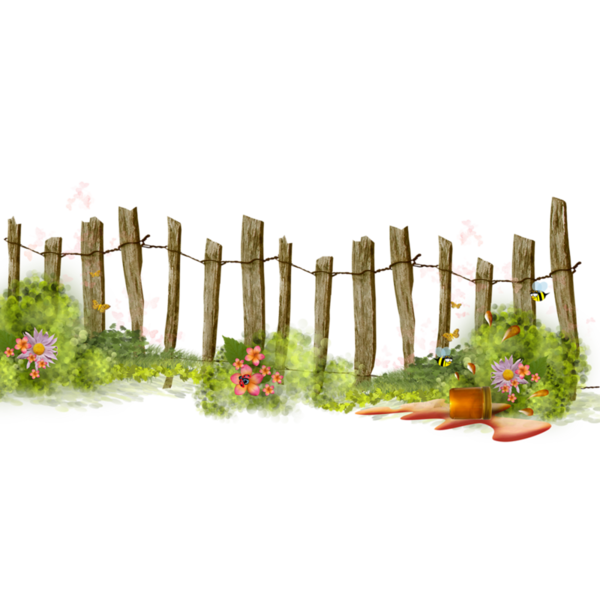 Fence clipart garden fence. Barrieres clotures pinteres page