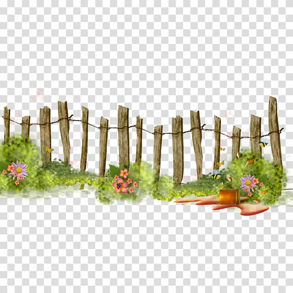 Gardening clipart transparent. Brown wooden fence flower