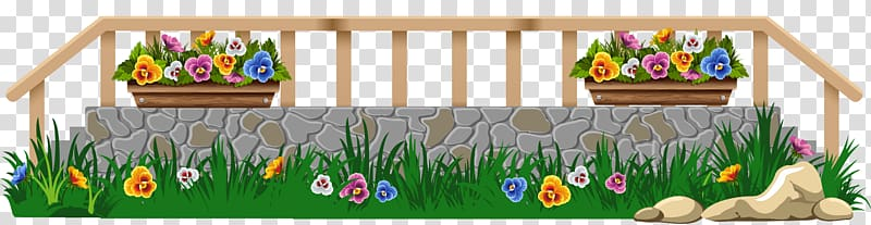 Multicolored garden lawn with. Fence clipart grasss