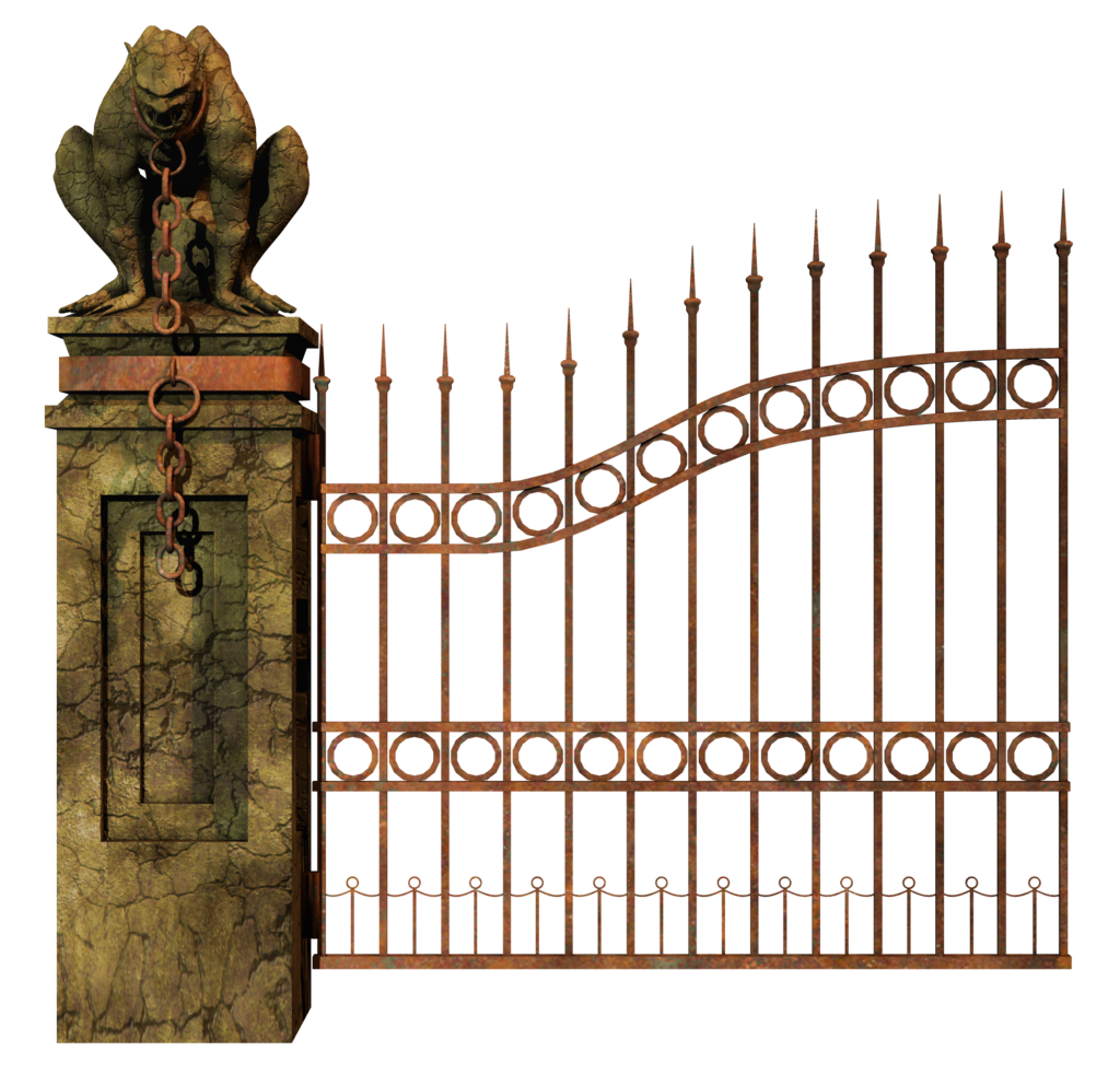 Gate clipart fence gate. Cemetery gates png transparent