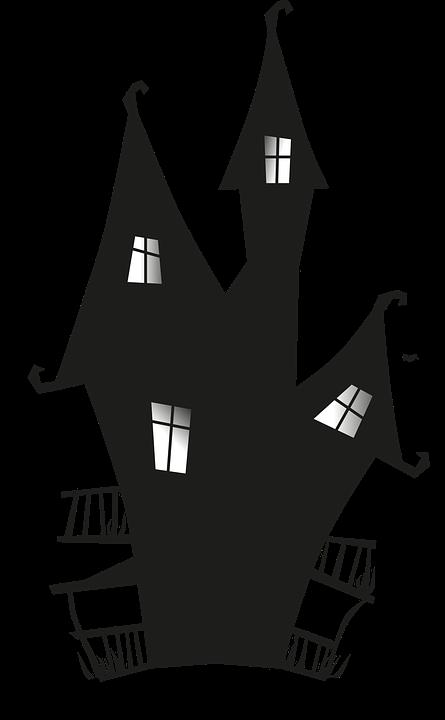 Fence clipart haunted house. Image gratuite sur pixabay