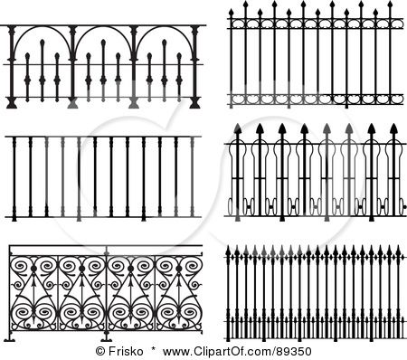 Fence clipart iron fence. Image detail for illustration