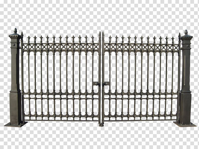 Fence iron railings transparent. Gate clipart metal gate