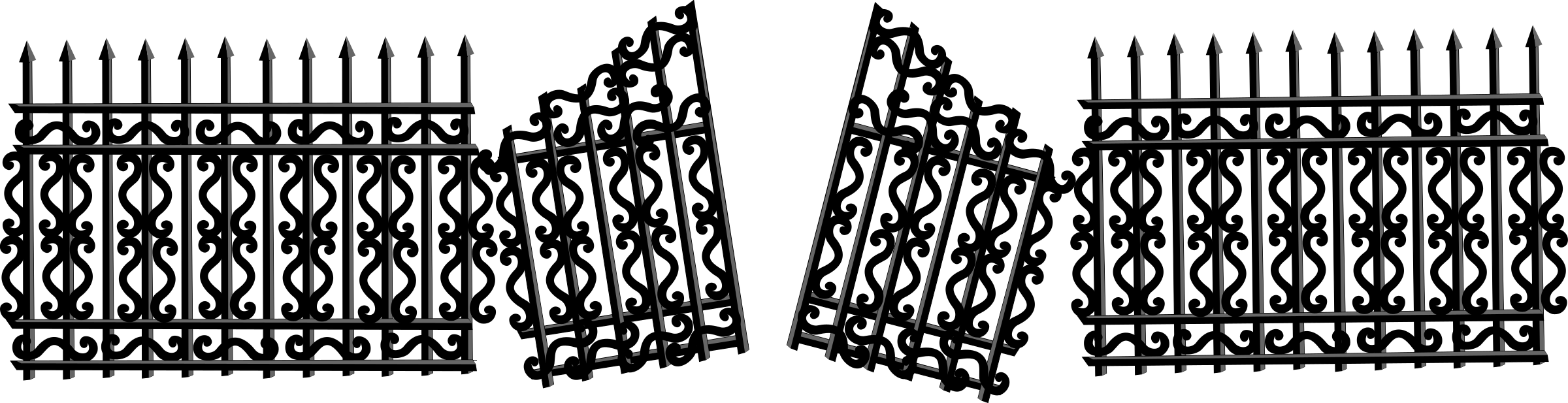 With broken gate big. Fence clipart iron fence