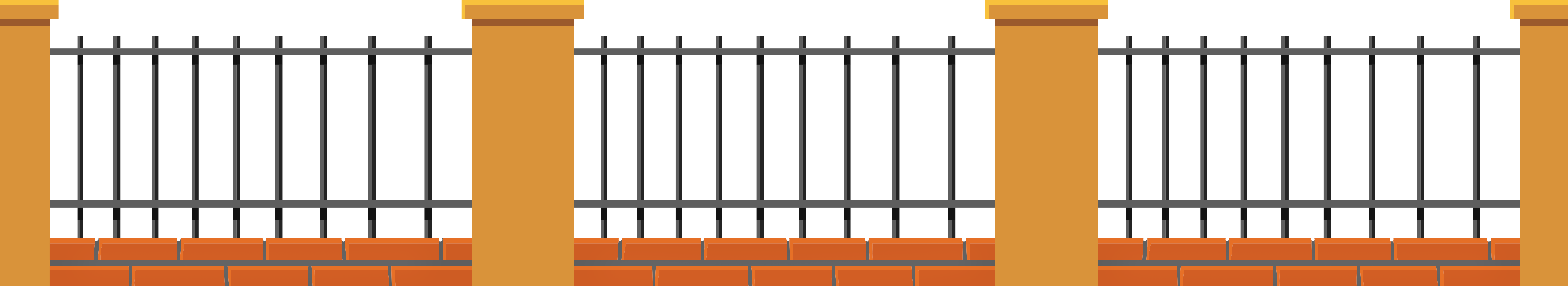 Fence clipart iron fence. Brick png image gallery