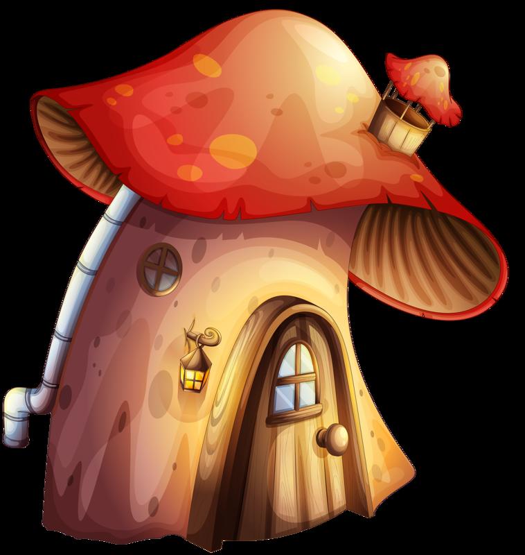 png mushroom house. Mushrooms clipart kid