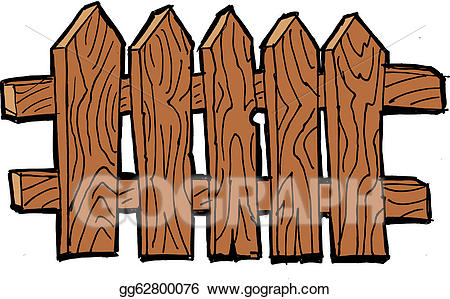 Fence clipart old fence. Eps illustration vector gg