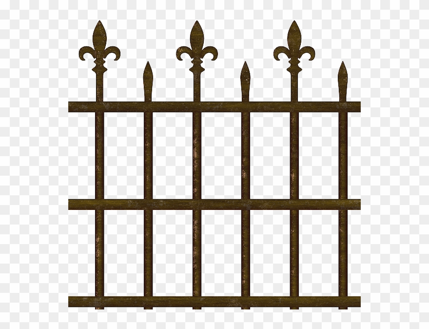 Fence clipart old fence. Png metal