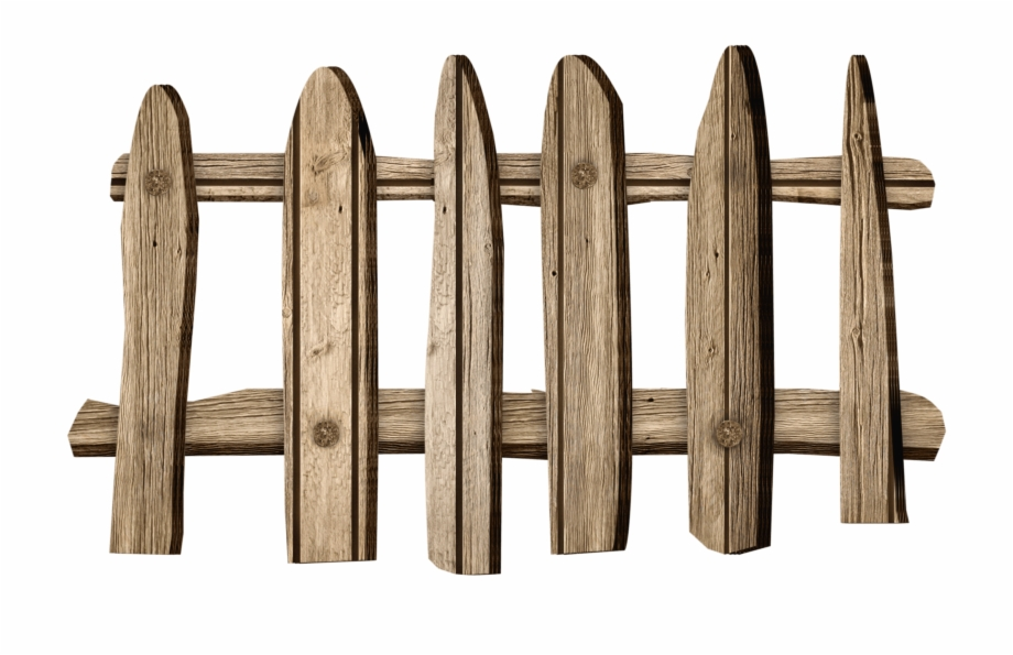Wood transparent png . Fence clipart old fence