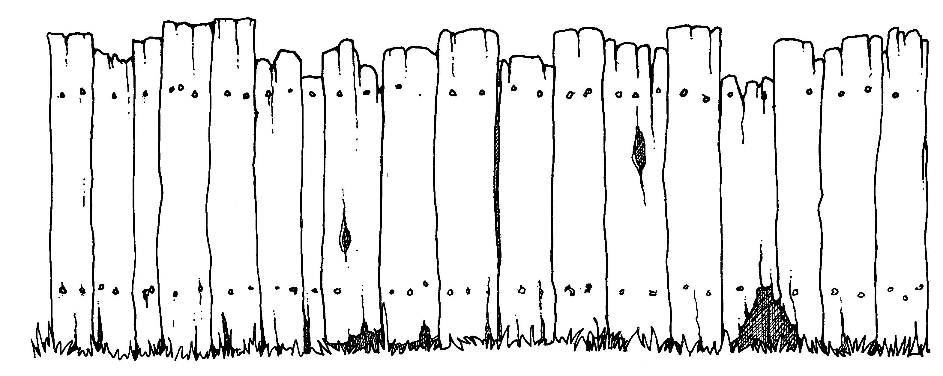 Free black and white. Fencing clipart broken fence