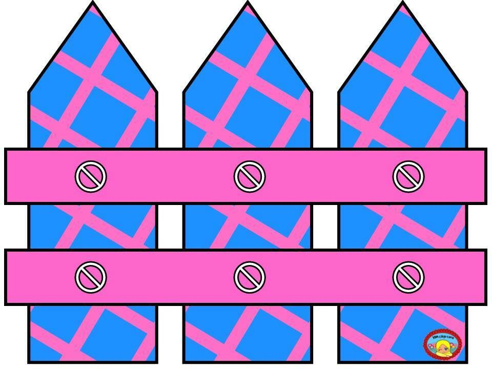 Fence clipart pink. And blue clip art
