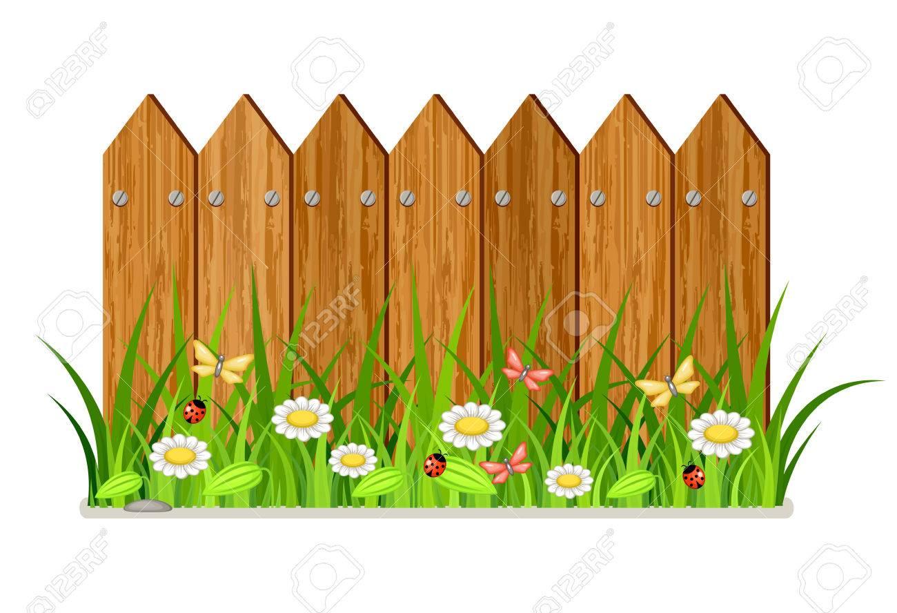 Fencing clipart fens. Fence mini garden transparent