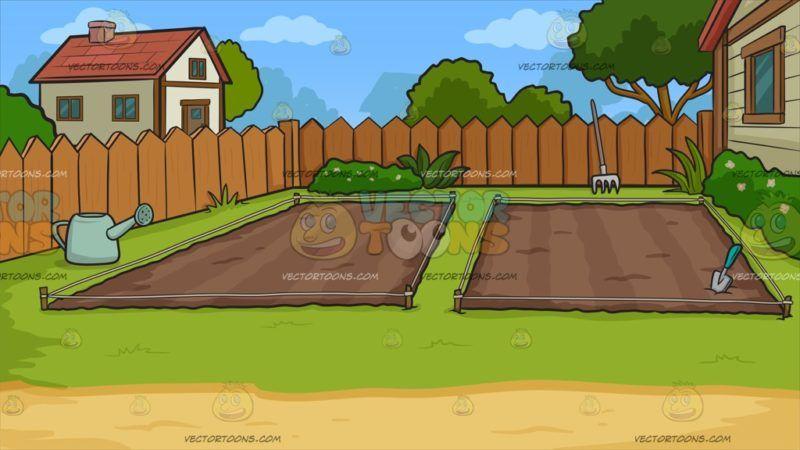 Garden clipart rectangle. Empty backyard vegetable background