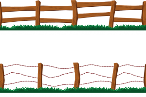 Fence clipart rustic fence. Portal