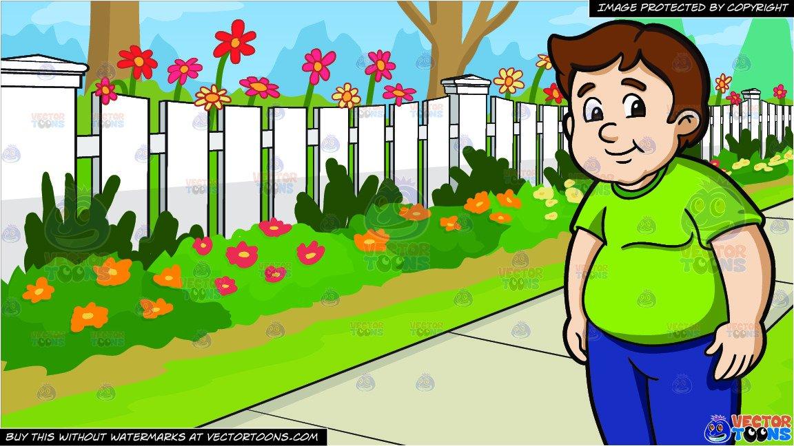 Fence clipart school. A chubby male high