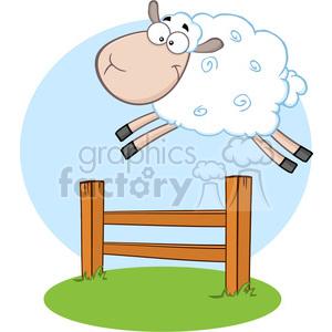 Lamb clipart sheep jump.  royalty free rf