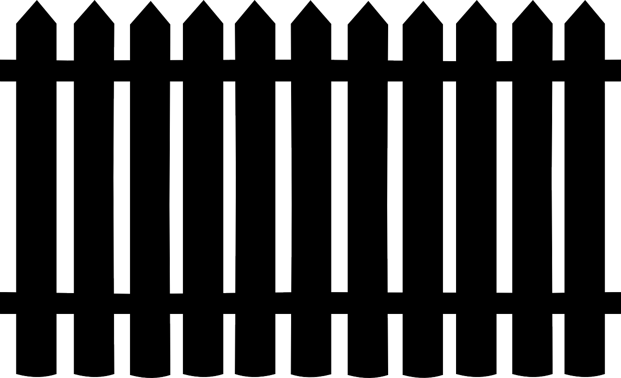 Fence clipart silhouette. Railings tile png image