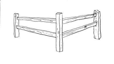 Fence clipart split rail fence. Sketch google search tattoo