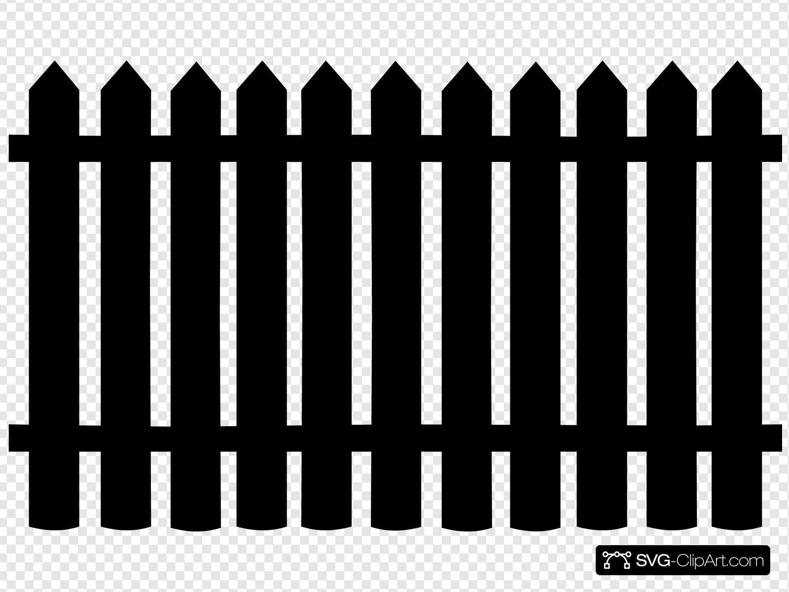 Fence clipart svg. Clip art icon and