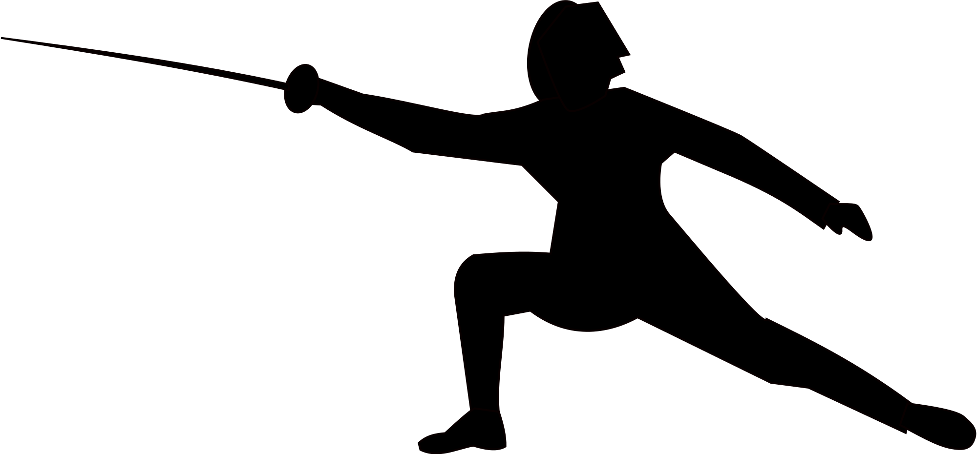 Fence clipart svg. Fencing silhouette at getdrawings