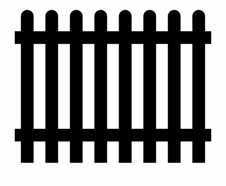 Picket garden gate wall. Fence clipart svg