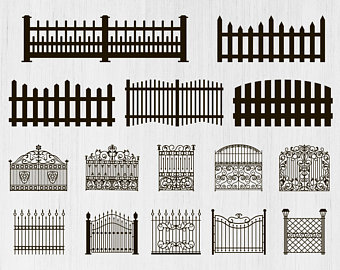 Etsy . Fence clipart svg