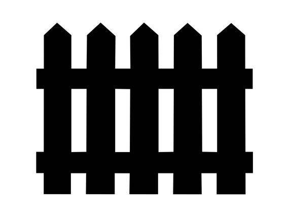 Fence clipart svg. Picket silhouette cut file