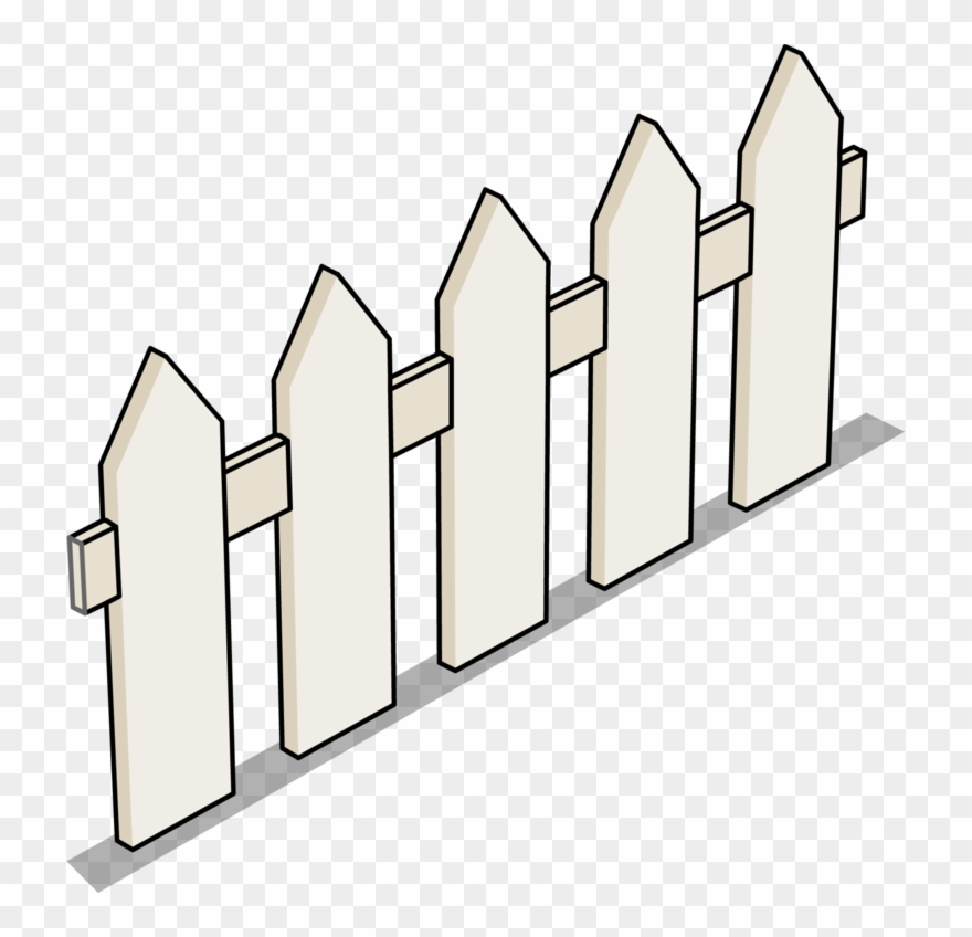 Fence clipart top view. Image picket sprite png