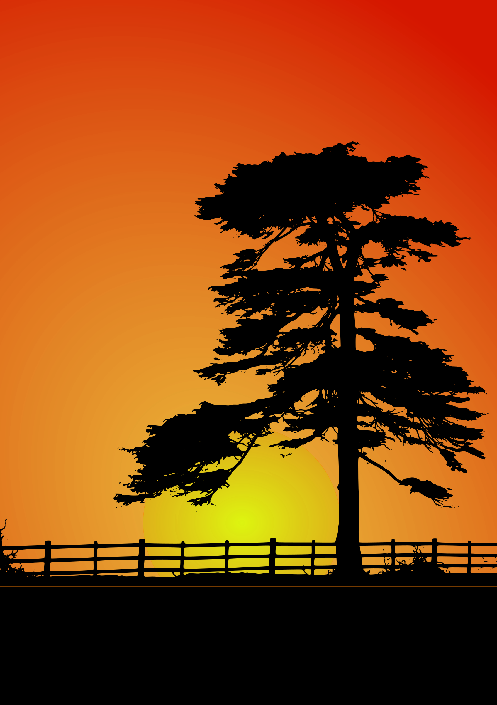 Cedar big image png. Sunset clipart sunset landscape