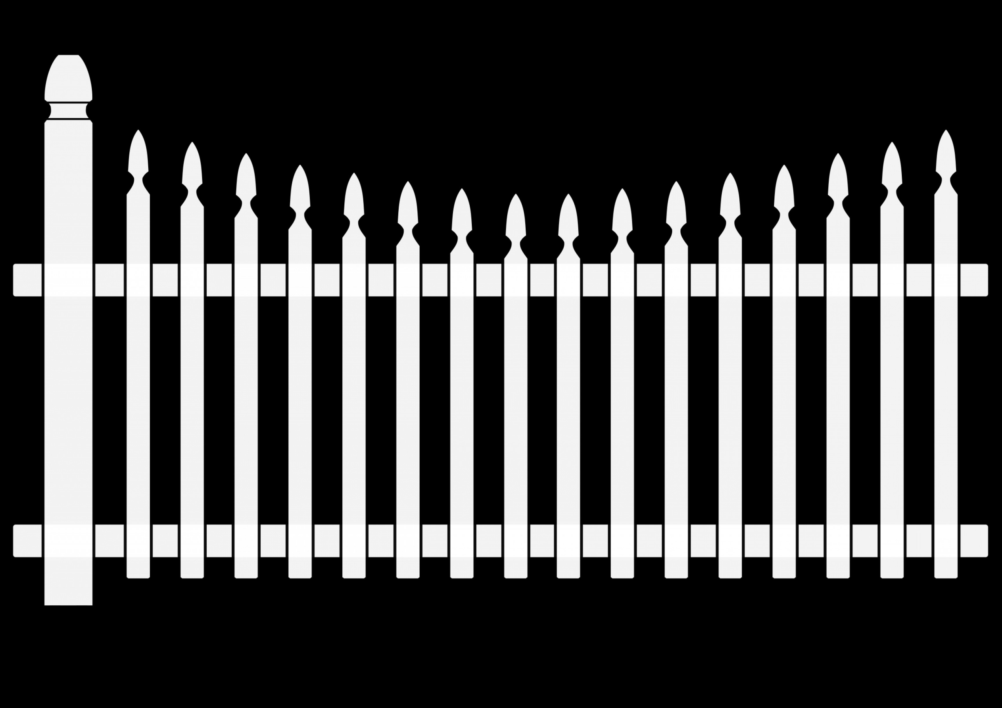 House with white picket. Fence clipart vector