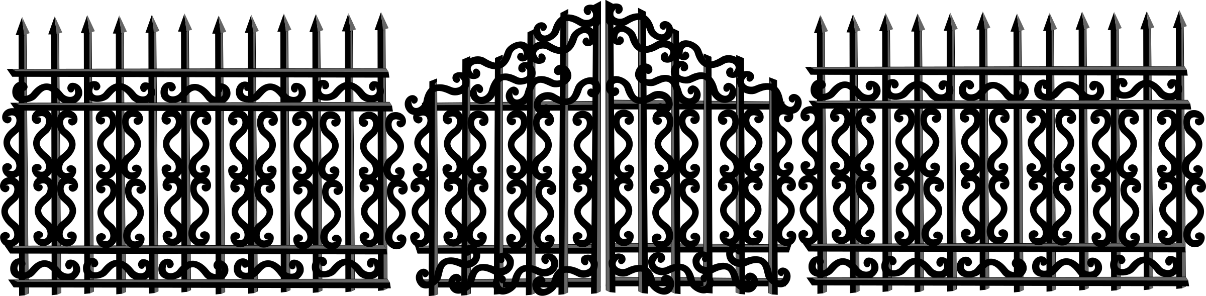 Fence clipart vector. Iron clip art billigakontaktlinser