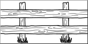 Fence clipart western fence. Clip art theme b
