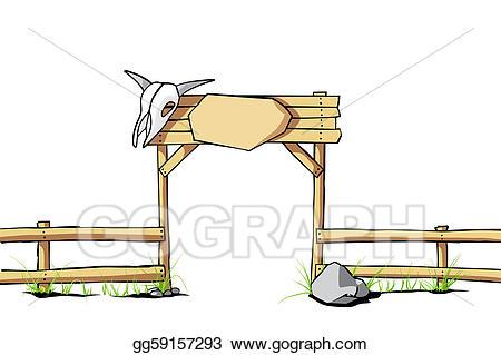 Eps illustration background vector. Fence clipart western fence
