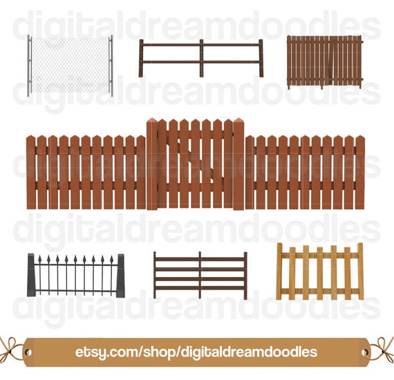 Fence clipart western fence. Gate clip art picket